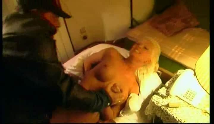 busty italian blonde rape in her bed