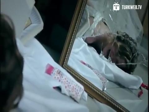 Mirror shatter during rape scene