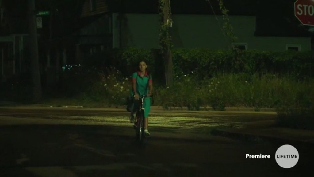 Abduction of a girl in cycle