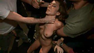 One hour of stunning crowd rape porn