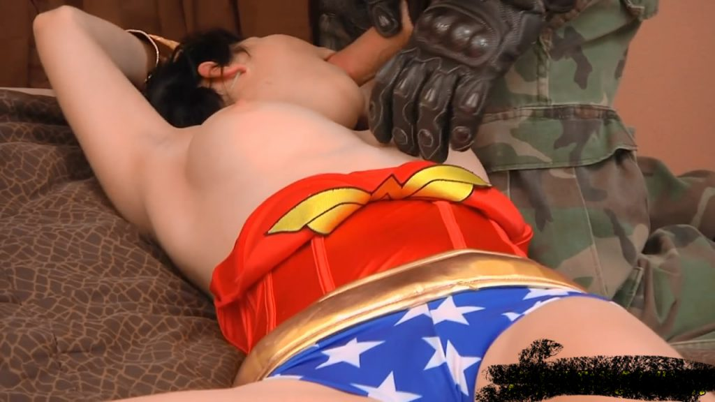 Wonder Woman oral rape porn cosplay fantasy