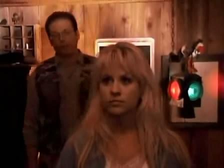 blonde woman rape scene in wood caban