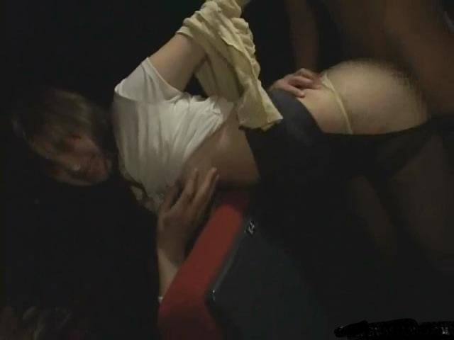 Rape fantasy video in a cinema
